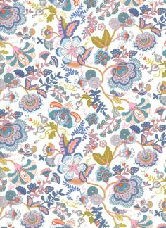 Lucy/'s Little Ditsy Flower Heads Floral 100/% Cotton Fabric