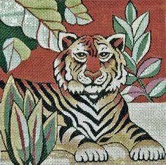 Trubey Needlepoint Tiger - P093