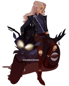 Daenerys Targaryen but if she was a badass motorcyclist Daenerys Targaryen Death, Daenerys And Jon, Khaleesi, Arte Game Of Thrones, Game Of Thrones Series, Got Dragons, Mother Of Dragons, Character Art, Character Design
