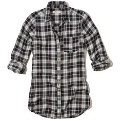 Hollister Plaid Tunic Shirt ($40) ❤ liked on Polyvore featuring tops, tunics, hollister, black plaid, tartan plaid shirt, hollister co shirts, plaid tunic, plaid shirt tunic and tartan shirts