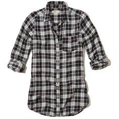 Hollister Plaid Tunic Shirt ($40) ❤ liked on Polyvore featuring tops, tunics, hollister, black plaid, tartan plaid shirt, hollister co shirts, plaid tunic, plaid shirt tunic and tartan shirts