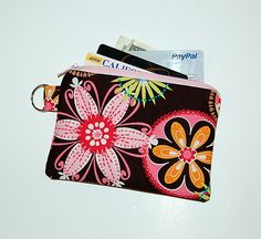 CARNIVAL BLOOM - Small Zipper Pouch / Cell Phone Gadget Holder