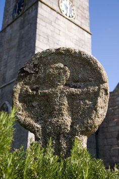 St Just Market Cross in the churchyard. This mix of ancient celtic / pagan and Christian is common in Cornwall