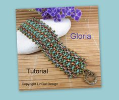 2 patterns.Tutorial Gloria and Ester SuperDuo and Tile Beadwork Bracelet and Necklace PDF
