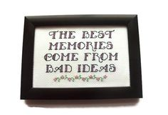 Funny Memories Quote Completed Framed Subversive by RatherUnseamly, £20.00