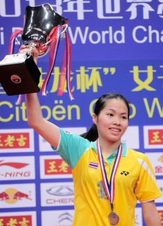 Ratchanok Intanon from Thailand. WC2013