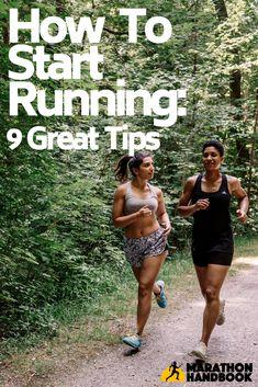 9 Great Tips for how to Start Running - let's go today! How To Start Exercising, How To Start Running, How To Run Faster, Starting To Run, Marathon Tips, Half Marathon Training, Marathon Running, Running Humor, Running Motivation