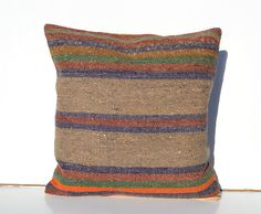 Decorative throw pillow kilim pillow cover Turkish by arastabazaar