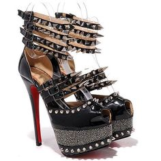 Latest 2012 CHRISTIAN LOUBOUTIN 20 YEARS ISOLDE 160MM LEATHER PEEP TOE PUMPS BLACK For Sale