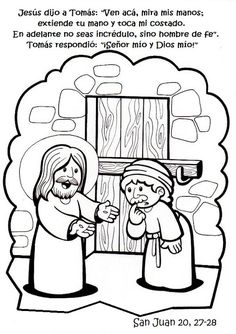 Doubting Thomas Coloring Page Elegant La Catequesis Recursos Catequesis Via Lucis Para Pascua Bible Coloring Pages, Cool Coloring Pages, Coloring Books, Colouring, Mickey Mouse Coloring Pages, Doubting Thomas, Sunday School Activities, Religion Catolica, Easter Story