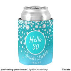 Birthday party diamonds teal blue glitter woman can cooler 40th Birthday Party For Women, 90th Birthday Parties, Birthday Ideas, Blue Glitter, Teal Blue, Diamonds, Coolers, Accessories, 50th