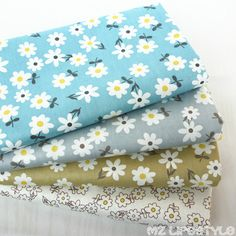 Buulqo Floral series Cotton Fabric Printed Fabrics Patchwork For Sewing Quilt Scrapbooking Tissue Pattern Needlework Material #Affiliate