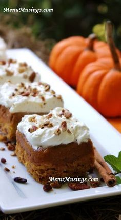Pumpkin Upside Down Cake - Perhaps my favorite Autumn dessert and it is SO easy!  EVERYone in my family loves this one!  Step-by-step photo recipe tutorial..
