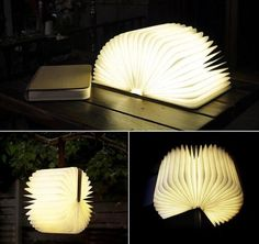 """The size of the folded: 6.5 """"x 8.5"""" x 1.25 """"(inches) Power: 4.5 W Weight: 0.7 KG material: natural wood Brightness: 500 Lumens Range: 6 hours Light: optional  white: CCT about 5400 K Warm white: CCT about 3000 K Charging interface: USB Voltage: 5 v, 500 ma"""