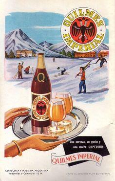 Cerveza QUILMES. Publicidad argentina, 1953.