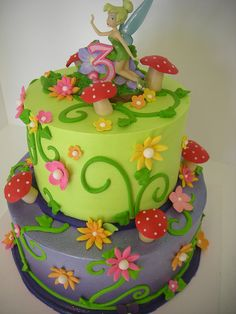 Tinkerbell birthday cake (535) by Asweetdesign, via Flickr