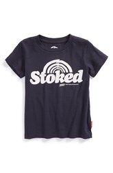Heck yeah!!! What kid wouldn't be stoked to be wearing a soft cool t-shirt! Prefresh 'Stoked' Graphic T-Shirt