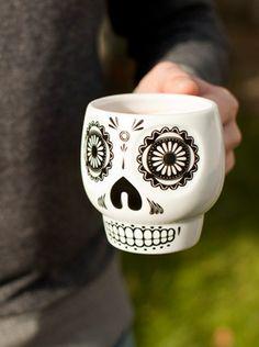 """Mexican Sugar Skull"" Mug (White)"