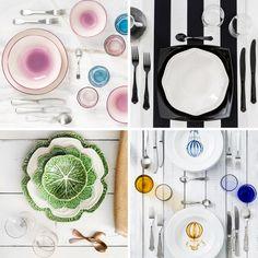 Mise en Place di Primavera 4 Stili per la Tavola Trend 2016 Colori