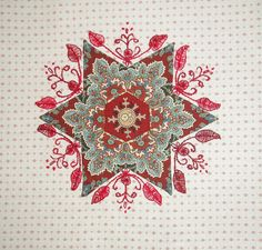 week 2 Faeries & Fibres Soupçon Mystery quilt along | Flickr - Photo Sharing! paper piecing and hand embroidery