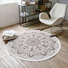 Pauwer Runder Teppiche Handgewebte Baumwolle Bedruckte Teppich Rutschfest Abwaschbar Bereich Teppich Ideal In 2020 Teppich Waschbar Vintage Teppiche Teppich Wohnzimmer