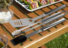 $27.30 Looking for professional grade stainless steel grilling set for your boyfriend? Take home this 16-piece stainless steel Barbeque tool set by Home-Complete and give your BBQ frenzy friend a new lease of life. The high-quality set comes with all the tools required for a successful cookout. It has everything from season steaks with a basting brush to a spatula and from corn holders to skewers. Smart Home Appliances, Small Appliances, Bbq Grill, Grilling, Best Espresso Machine, Stainless Steel Grill, Steaks, Skewers, Tool Set