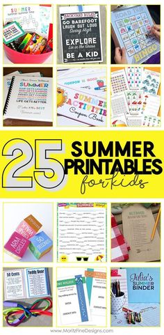 With summer days wide open, it's always helpful to be able to give kids a fair number of activities to choose from to fill their days with all sorts of entertainment. I've rounded up loads of Kid Summer Printable Activities your kids can't live without! 25 Kid Summer Printables Printable Summer Activities Book, The Girl Creative * …