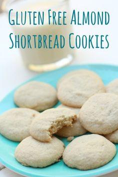 Gluten Free Almond Shortbread Cookies - the BEST GF cookies ever!