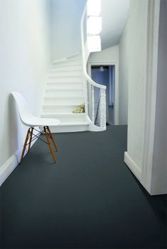 gorgeous deep gray flooring