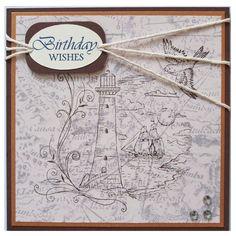 Handmade Lighthouse Birthday Card by Helle Belles Cards