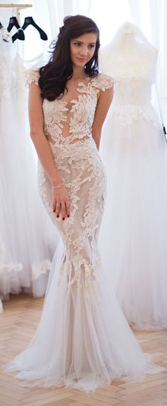 Rhea Costa wedding gown. The Wedding Scoop Spotlight: Coloured and Non-white Wedding Dresses