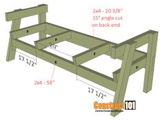 Double Chair Bench Plans - Step-By-Step Plans double chair bench plans step 3 Wood Bench Plans, Wooden Chair Plans, Garden Bench Plans, Diy Wood Bench, Woodworking Furniture Plans, Pallet Patio Furniture, Outdoor Furniture Plans, Diy Garden Furniture, Chair Bench