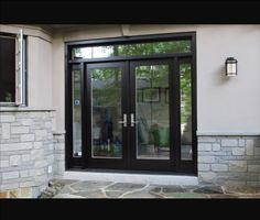 New Exterior Front Door Entrance Interiors Ideas Wooden Sliding Doors, Wood Front Doors, Front Door Entrance, Door Entryway, Glass Front Door, Patio Doors, Best Exterior Paint, House Paint Exterior, Exterior House Colors