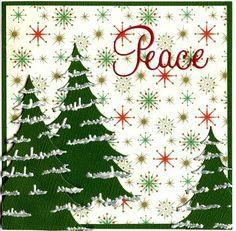 Memory Box - Frosted Christmas Tree, Penny Black Love & Joy die.