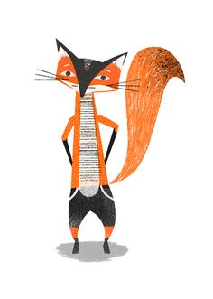 """""""Mr Fox"""" by Jessie Ford. Mr Fox is in short pants! Adorable!"""