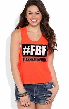 Deb Shops Tunic Tank Top with FBF Flashback Friday Screen $10.00