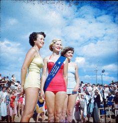 Sun beachgirl contest Miss Frankston 1950s