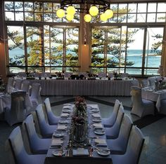 Wedding Table Settings In Seasalt Restaurant At Crowne Plaza Terrigal With Thanks To When Love