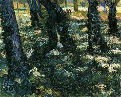 Undergrowth / Vincent van Gogh - 1889