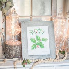 Christmas Holly Botanical Study Printable