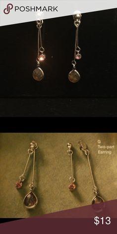 Lia Sophia Mystify 2 Piece Earrings Lia Sophia Mystify Earrings. Silver. One earring is missing pink stone. No tag or box. Comes from a clean & smoke free home. Lia Sophia Jewelry Earrings