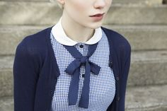 Ronette Blue Gingham · Lucy cardigan · Betina Lou Spring-Summer Collection 2013