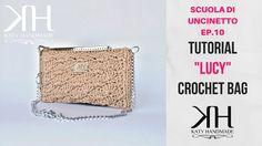 """TUTORIAL POCHETTE """"Lucy"""" + """"PUNTO VENTAGLIETTO"""" SCUOLA DI UNCINETTO EP. ..."""