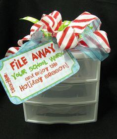End of year teacher gift ideas from class pinterest christmas