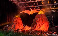 Vulcões e um pterodáctilo deram um charme a mais na decoração