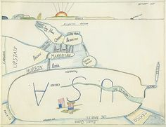 Saul Steinberg The West Side 1973 by matilda