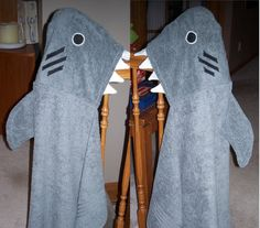 Shark Monster Towels Hooded Towels by NanaBananasGifts on Etsy. $25.00 USD, via Etsy.