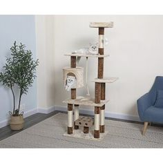 Byer Multi-Level Cat Tree or Condo Cat Tree Condo, Cat Condo, Cat Perch, Busy Boxes, Sisal Rope, Pet Furniture, Cozy Place, New Wall, Wood Construction
