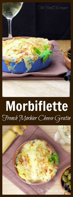 Morbiflette is a tartiflette (potato covered with cream, fresh bacon bits, onions and reblochon cheese) with Morbier cheese! #cheese #foodie #recipe