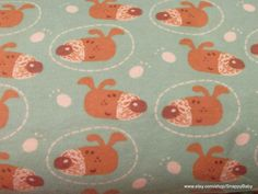 Flannel Fabric  Dog Face  1 yard  100% Cotton by SnappyBaby
